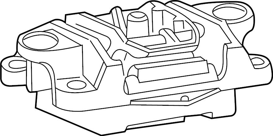 Jaguar X-Type Insulator. Trans mount. Auto trans. Manual