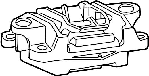 Jaguar X-Type Manual Transmission Mount. AUTO, Replace