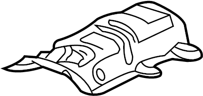 Jaguar X-Type Heat shield. HEATSHIELD. Front. Needle