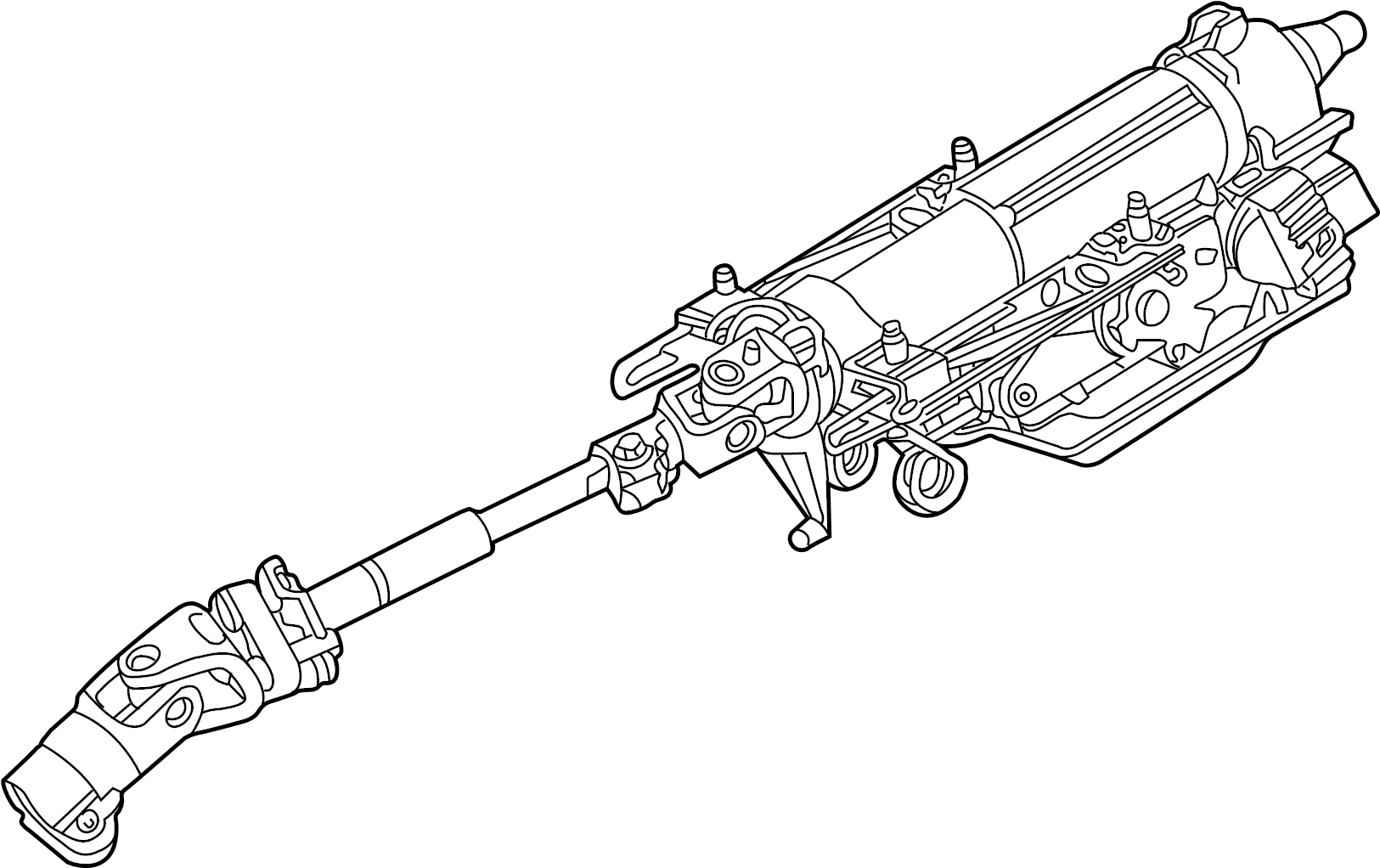 Jaguar X-Type Column-steering. Steering column. Bladder