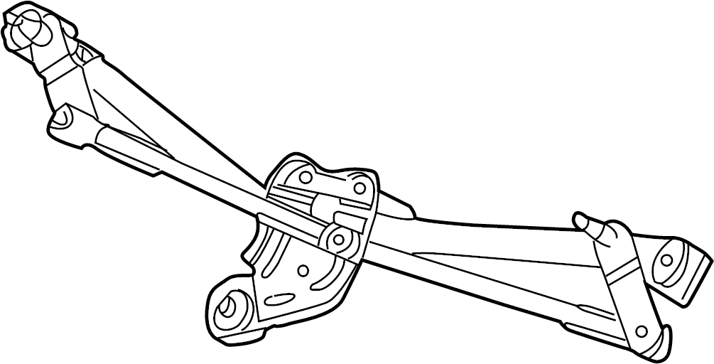 Jaguar X-Type Windshield Wiper Linkage. Motor, Replace