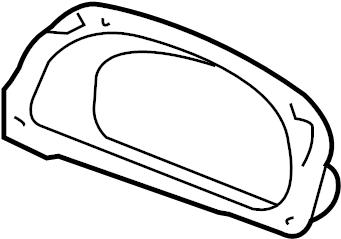 Jaguar X-Type Instrument Cluster Housing. Instrument