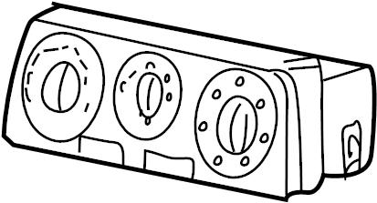Jaguar X-Type Hvac temperature control panel. W/o auto