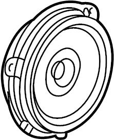 Jaguar X-Type Speaker. 2002-03, TO VIN D55321. PANEL, DOOR