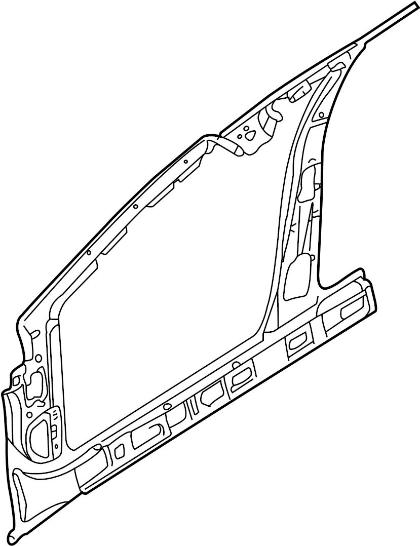 Jaguar X-Type Uniside (Front). Panel, PILLAR, Body