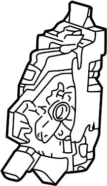 Jaguar X-Type Lock. Door. Latch. Actuator. Locking, Dead