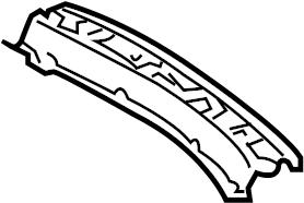 Jaguar X-Type Rear Body Panel Trim Panel (Rear