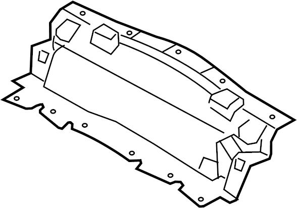 Jaguar XKR-S Shield-deflector. Upper shield. 4.2 liter. 5