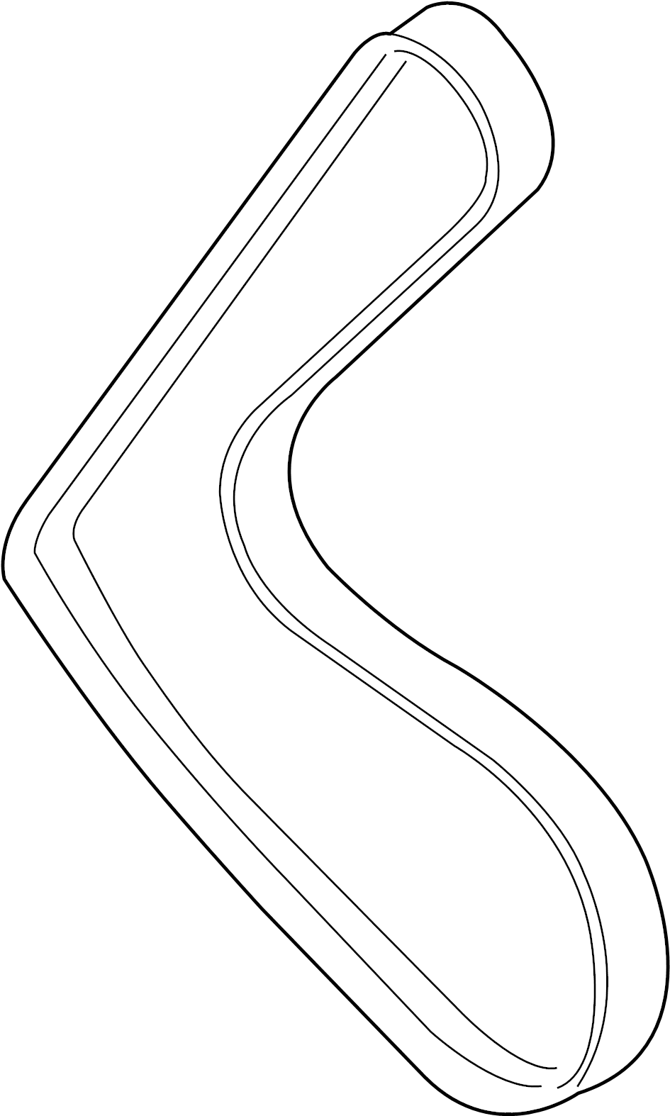 Jaguar XJR Accessory Drive Belt. Drive belt. Serpentine