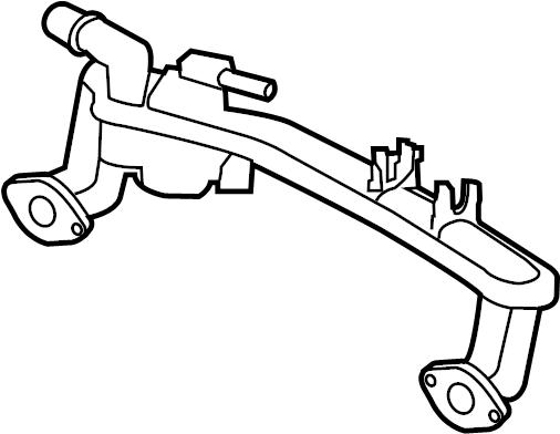 Jaguar XFR Engine Coolant Inlet Flange. Water manifold