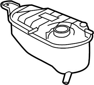 Jaguar XK Engine Coolant Reservoir. LITER, Cooling