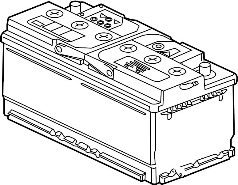 Jaguar XKR-S Battery. BATTERY-WET. Automatic Transmission