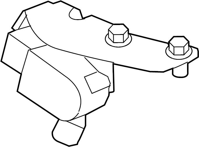 Jaguar XFR-S Headlight Level Sensor (Front). HEADLAMP