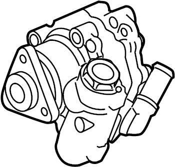 Jaguar XF Power Steering Pump. LITER, Hydraulic, GEAR