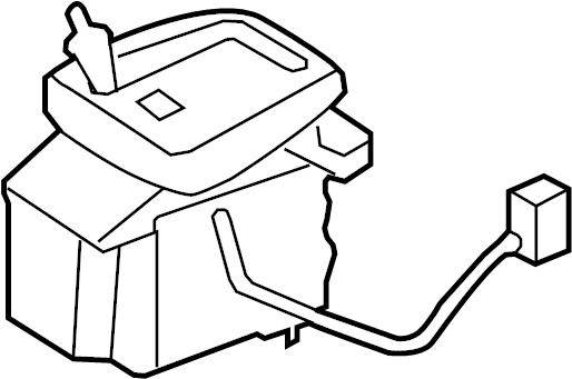 Jaguar XK Automatic Transmission Shift Lever. CONTROLS