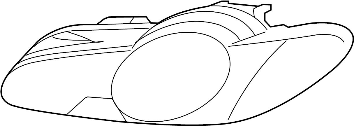 Jaguar XFR Headlight Assembly. 2009-11, HIGH INTENSITY