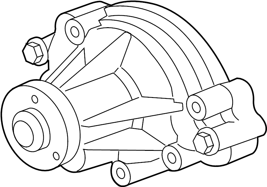 Jaguar XJ8 Engine Water Pump. COOLING, SUPERCHARGER