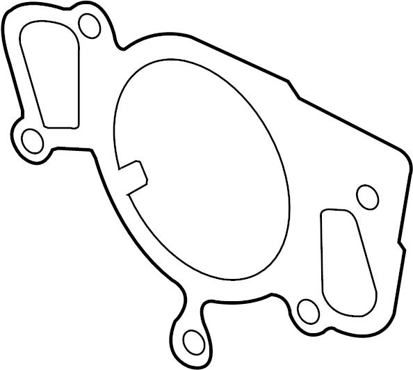 Jaguar XK8 Engine Water Pump Gasket. COOLING, SUPERCHARGER