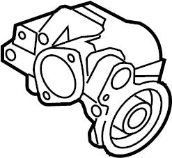 Jaguar XK Filter. Oil. Housing. Engine. Adapter. Hsng