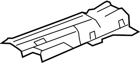 Jaguar XF Heat shield. HEATSHIELD. 4.2 LITER, center, w