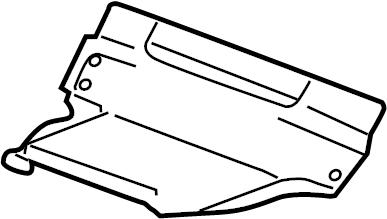 Jaguar XFR Seat Frame Trim Panel (Front, Lower). Left