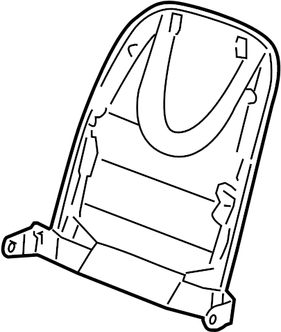 Jaguar XF Seat Back Panel (Rear). PORTFOLIO, Pocket, Ivory