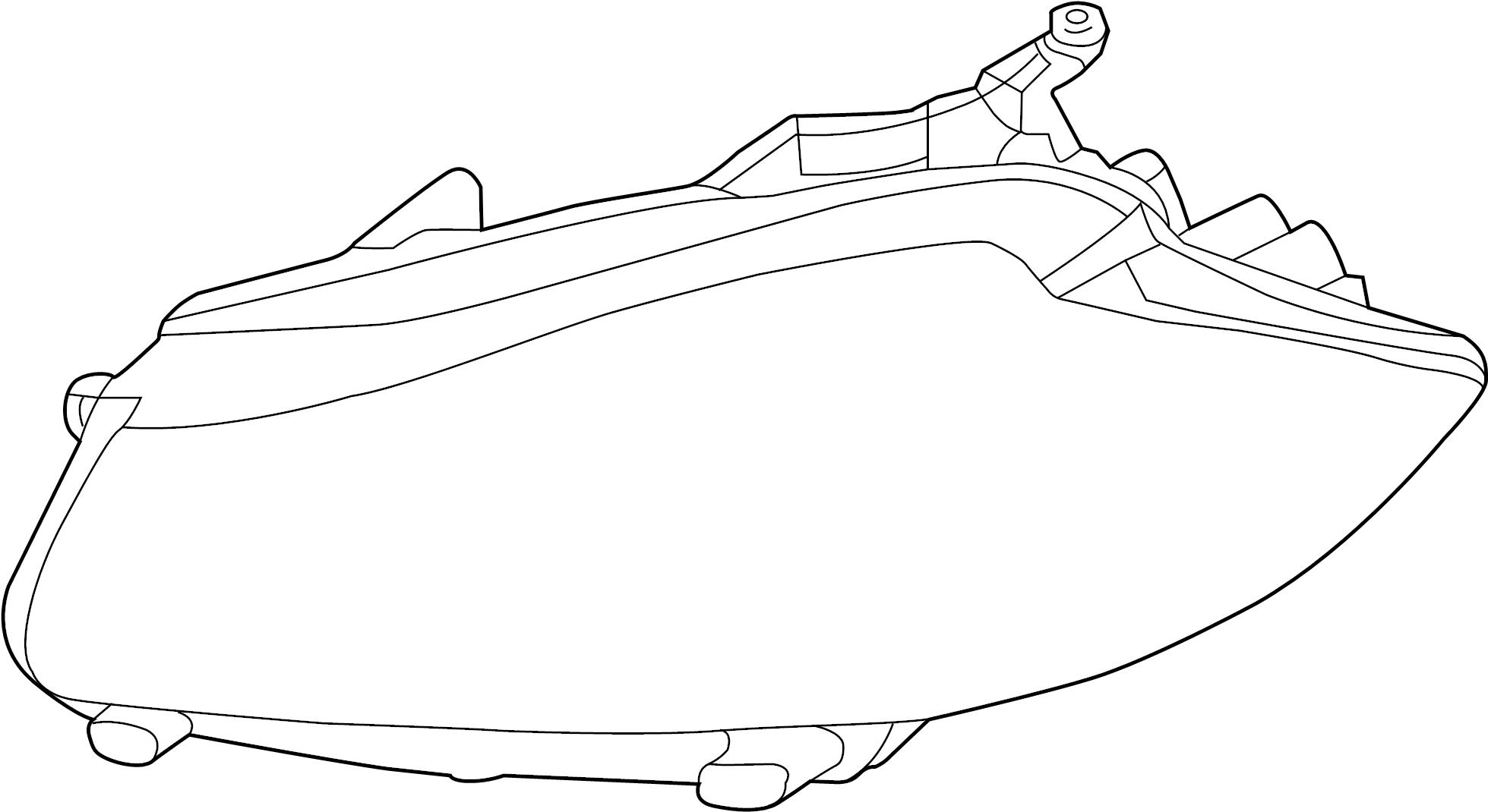 Jaguar XF Headlight Assembly. 2012-15, w/adaptive. XF