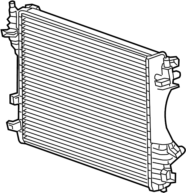 Jaguar XF Radiator. Primary Radiator. HOSES, Cooling