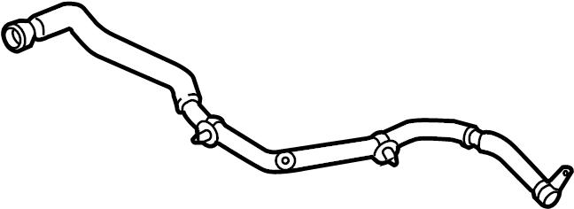 Jaguar XF Radiator Coolant Hose. Radiator hose. Auxiliary
