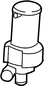Jaguar XK Engine Auxiliary Water Pump. LITER, VIN
