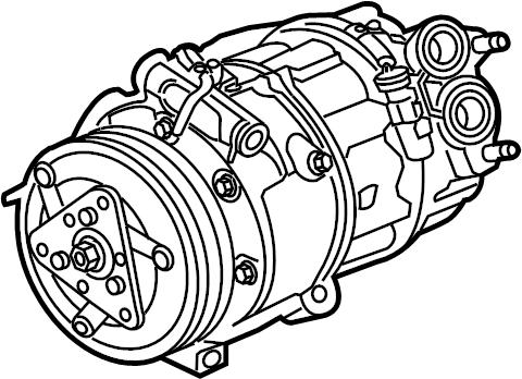 Jaguar XF A/c compressor. Compressor. Incl.a/c compressor