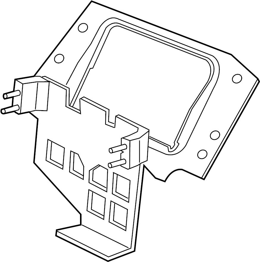 Jaguar XJR Engine Control Module Bracket. LITER, SYSTEM