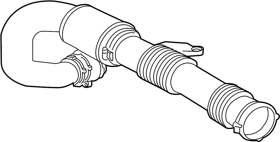 Jaguar XF Intake tube. TUBE-AIR INTAKE. 2.0 LITER TURBO. 2