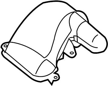 Jaguar XJ Air. Tube. Duct. Inlet. Intake. Outlet. Engine