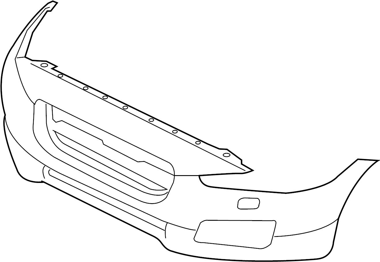 Jaguar XF Bumper cover. COVER-BUMPER. R-SPORT, w/h'lamp