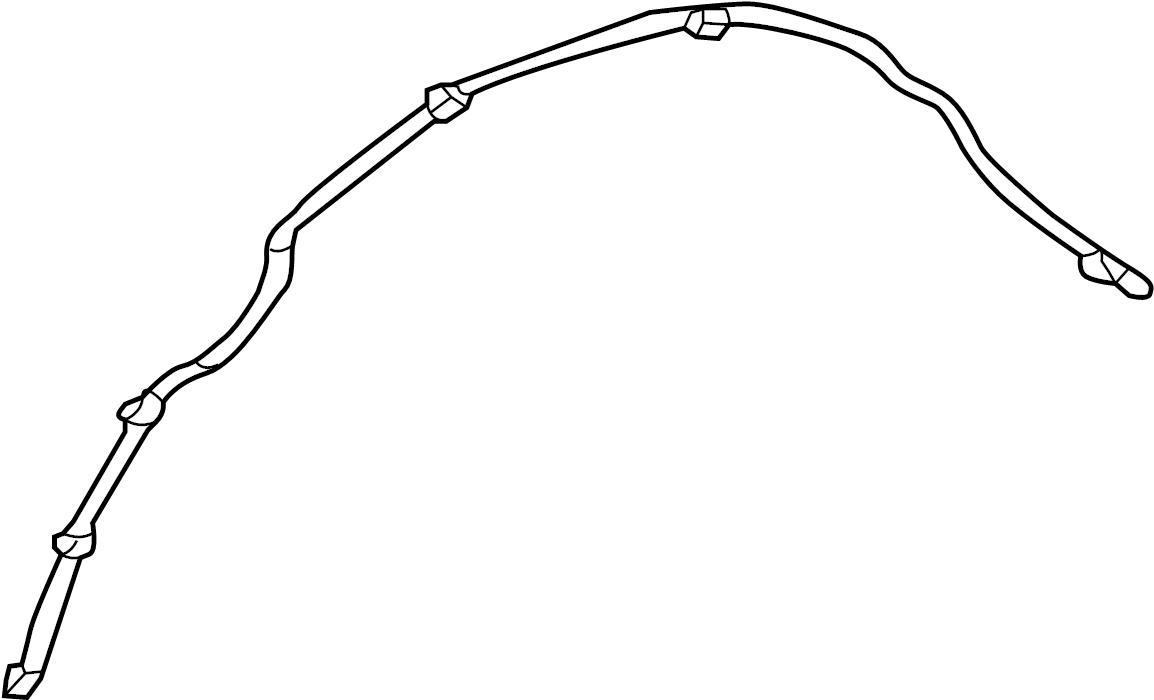 Jaguar XE Headlight Washer Hose. Front, Long, Connector