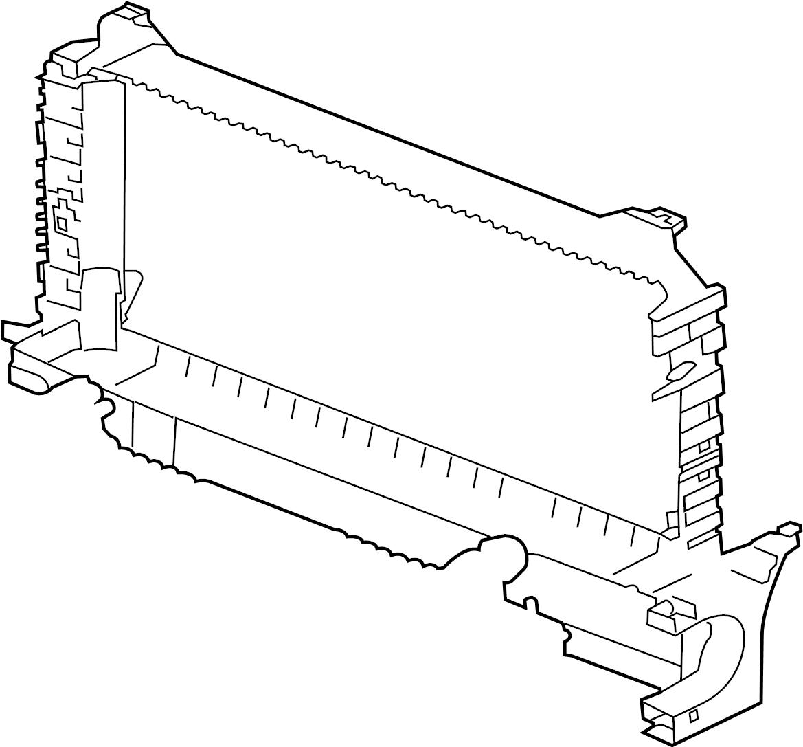 Jaguar XF Support. Frame. Radiator. Panel. Center. Lower c