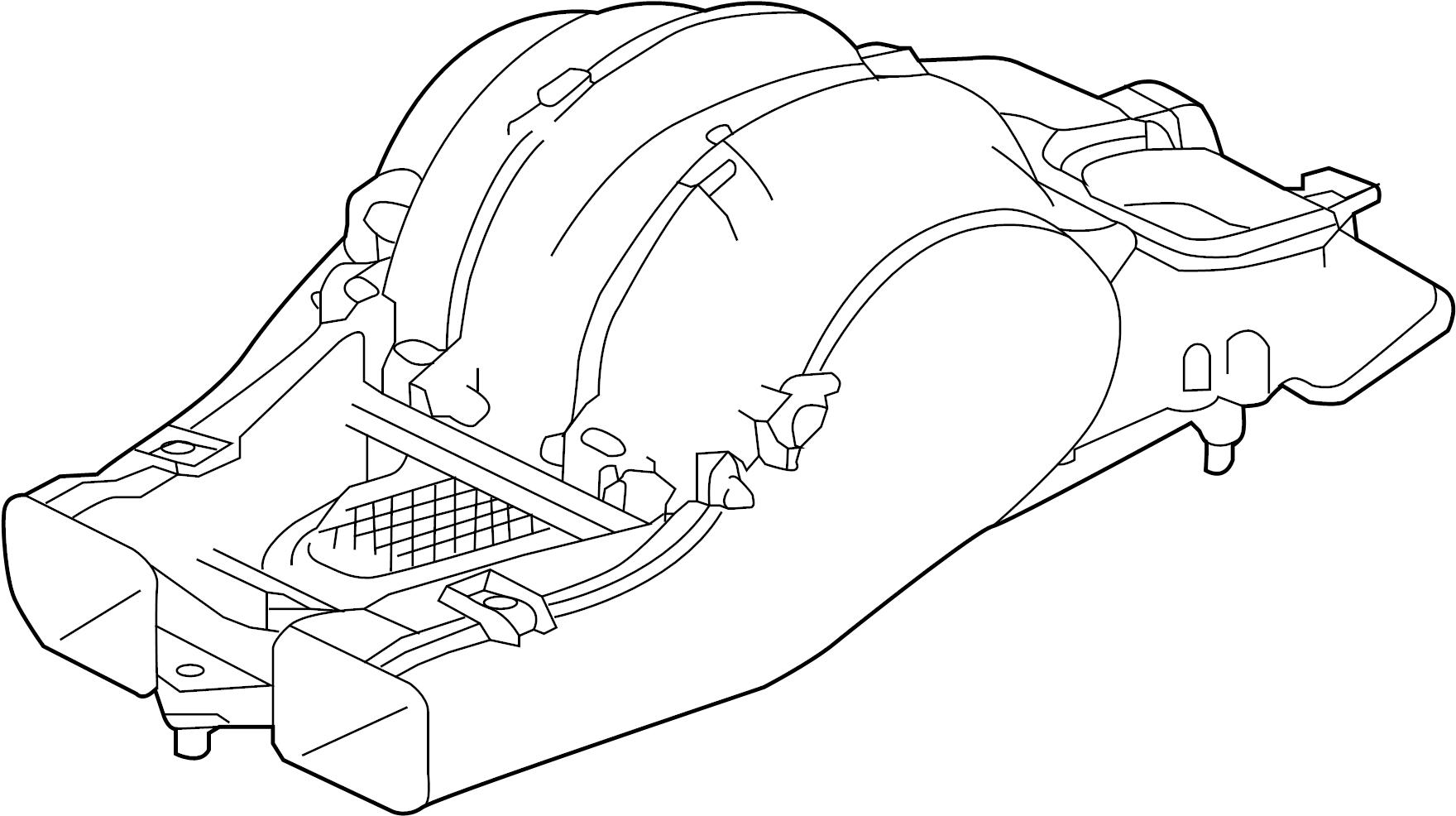 Jaguar Xf Blower Hvac Motor Assembly Case Assembly F