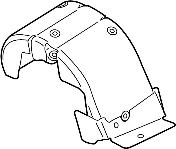 Jaguar XF Heatshield. Turbocharger mount heat shield. 2.0