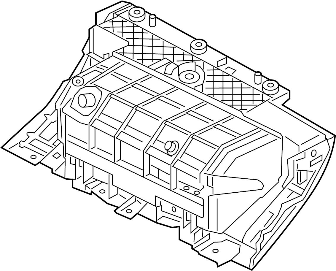Jaguar Xf Box Glove Storage Compartment Frame Housing
