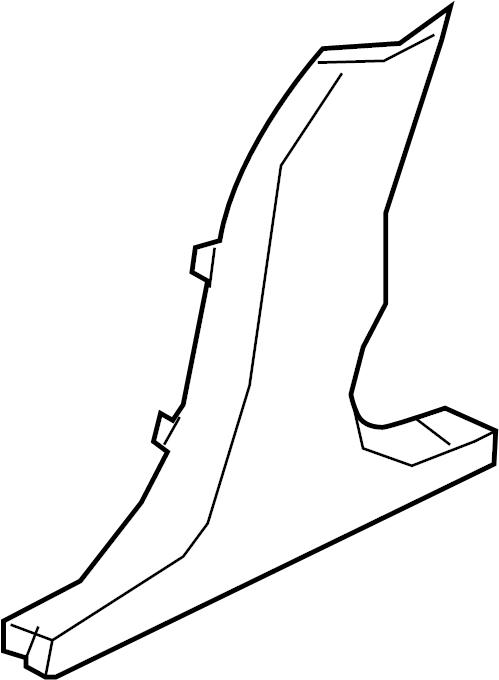 Jaguar XF Door Pillar Post Trim Set (Lower). SEDAN, w/rear
