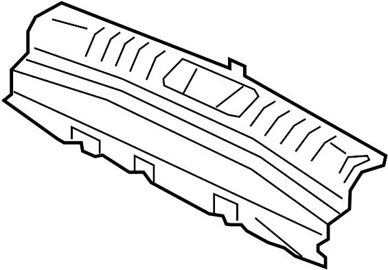 Jaguar XF Trunk Trim Scuff Plate (Rear). SEDAN, Body