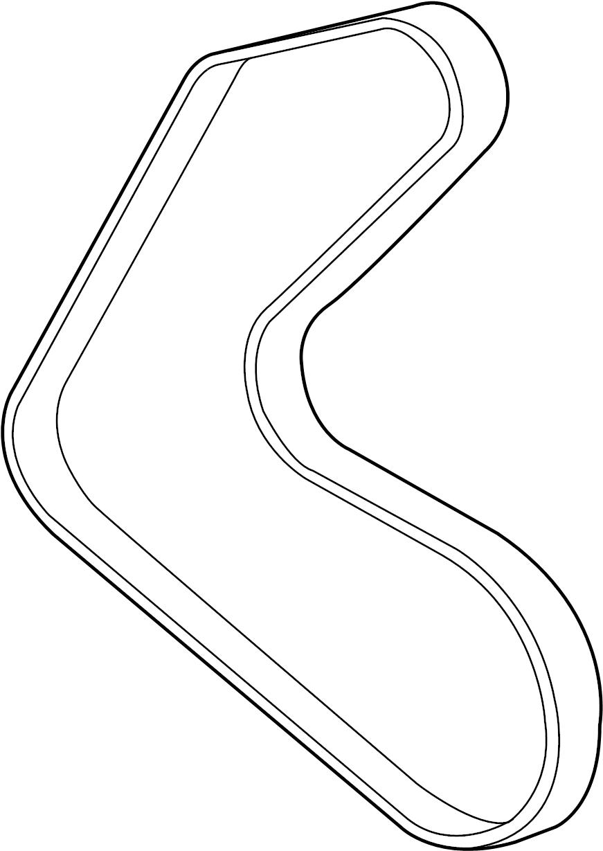 Jaguar F-Type Belt-drive. Drive belt. Serpentine belt