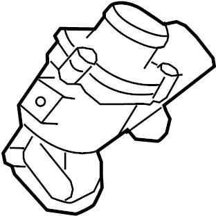 Jaguar XF Thermostat. Coolant. Engine. Housing. Unit