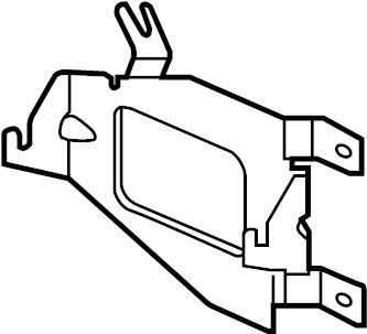 Jaguar F-Type Alarm bracket. BRACKET-SUPPORT. Air Bag