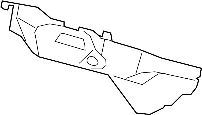 Jaguar XK Shield. Heat. Exhaust. (Rear, Lower). LITER