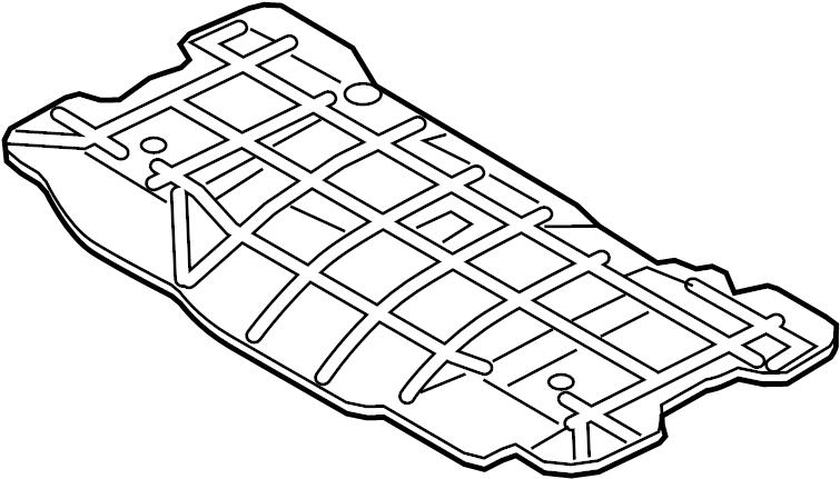 Jaguar F-Type Floor Pan Heat Shield (Rear). 2.0 LITER. 3.0