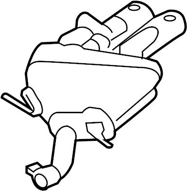 Jaguar F-Type Exhaust Muffler. Muffler & pipe. SYSTEM