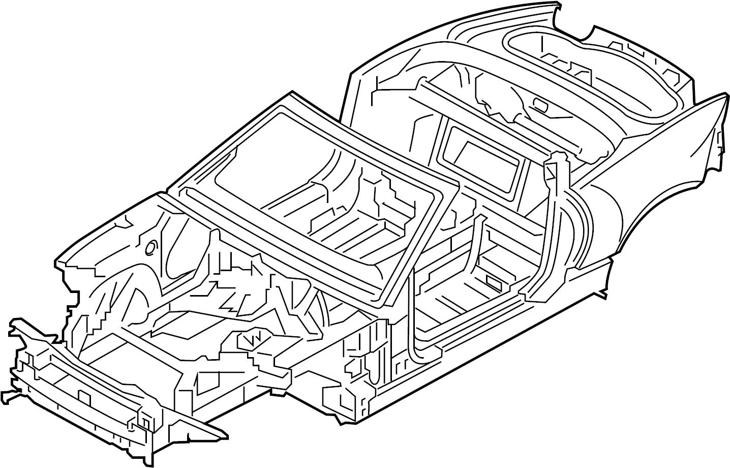 Jaguar F Type Body Assy Bodyshell Convertible To Vin