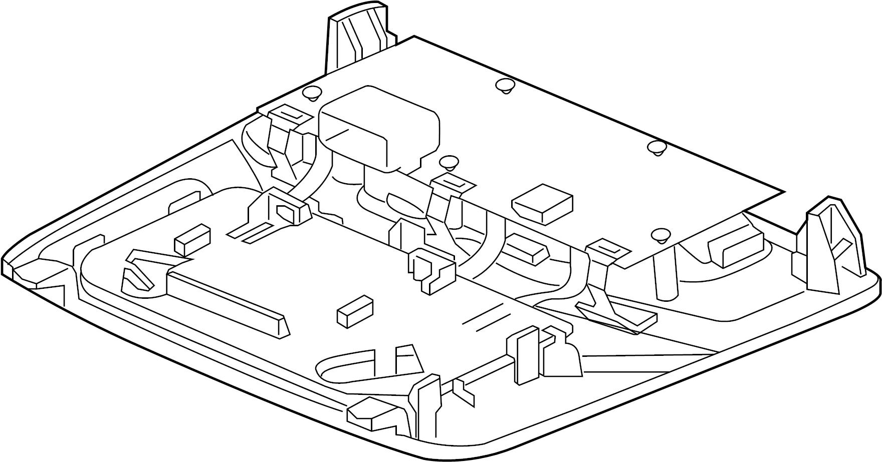 Jaguar F-Type Overhead Console. W/o glass break sensor